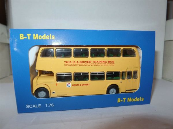 B T Models B115C Bristol Lodekka LD6G Bus Hants & Dorset NBC Trainer Yellow